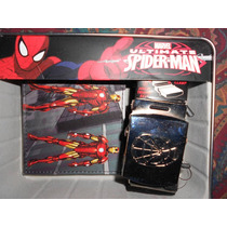 Estuche Iron Man Cartera Y Cinturón Spiderman