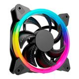 Ventilador De 120mm Para Gabinete Gaming Eagle Warrior Orion Multicolor Arcoiris 16 Led's 1200 Rpm