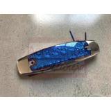 Plafón Tipo Peter 12 Leds Azul
