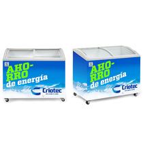 Congelador Horizontal Tapa De Cristal Curvo 8 Pies Criotec