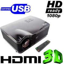 Increible Proyector Hd Led 3d Projector 16:9&4:3 Video 3d