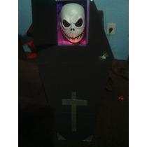 Adorno De Ataud Carton Con Calavera Para Fiesta De Halloween