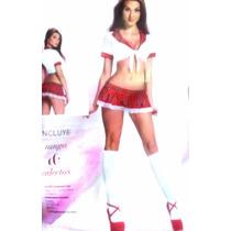 Baby Doll Disfraz Colegiala Incluye Tanga Calcetas 71612