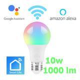 Foco Inteligente 10w Blanco Wifi Alexa Google Home Domotica