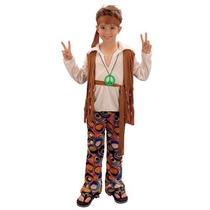 Hippie Disfraz - Boy Kids Hippy 70s Vestido De Lujo Medio