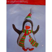 Figura Inflable De Pinguino Navideno