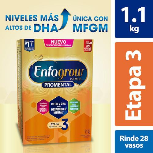 Leche De Crecimiento Enfagrow Etapa 3, Caja 1.1 Kg
