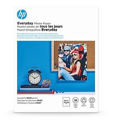 Papel Fotográfico Hp 50 Hjas 8.5x11(carta) 200g/m Q8723a