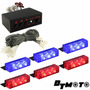 Luces Policiacas Dt Moto Blue Red 18x Led Police Emergency