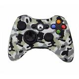Funda Silicon Control Xbox 360 Camuflaje Gris