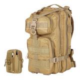Mochila Tactica Militar 25 Lts Multiuso + Bolso Porta Objeto