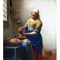 Lienzo Tela La Lechera Jan Vermeer 1660 Arte Barroco 50 X 60