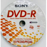 Sony Dvd-r Disco Virgen 4.7gb 120 Min  10 Pzas