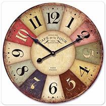 Reloj De Pared Estilo Vintage Antiguo Toscano Paris Francia