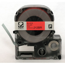 Cartridge Label Black On Red 1/2 Polyester K-sun