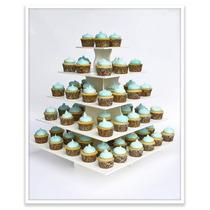 Base Para Pastelitos, Cup Cakes De 5 Pisos Plástico Hm4