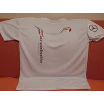 Playera Blanca Dry Fit Force India F1