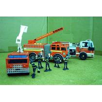 Lee Anun X Bomberos Lote 2 Camion & 5 Figura Y Libro Camion