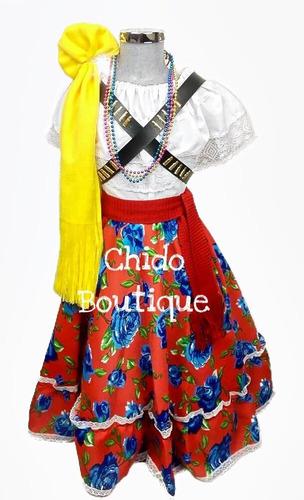 ab28e2daa Traje Disfraz Adelita, Revolución, Completo Niñas 4 A 16 en venta en Barrio  San Lucas Coyoacán Distrito Federal por sólo $ 390,00 - CompraMais.net  Mexico