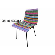 Sillas Acapulco ( Vinilos Flexibles) Silla Tejida Flor Color