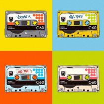 Cuadro Decorativo 2 Pz 30x30 Cassettes Pop Art