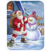 Navidad Santa Claus Y Muñeco De Nieve De Cristal Tabla De C