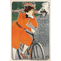 Lienzo Tela Poster Bicicleta Autos Legia Bélgica 77 X 50 Cm