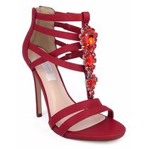 Elegantes Sandalias Zapatillas Andrea Rojas Con Pedrería