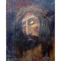 Oleo Antiguo Cristo Firmado
