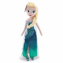 Peluches Disney Store Frozen Fever Anna Elsa 50 Cm Verano