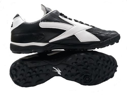 989e7015 Tenis Fútbol Multitaco Concord S160qb 100% Piel Negro Blanco en ...