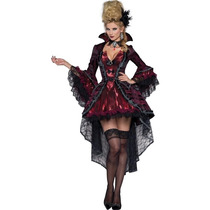 Disfraz Vampiro Adulto Mujer Halloween Vampiresa Sexy