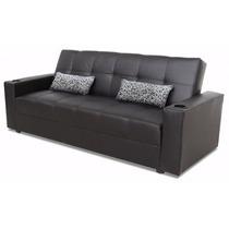 Elegante Futon En Vinipiel (sofa Cama)