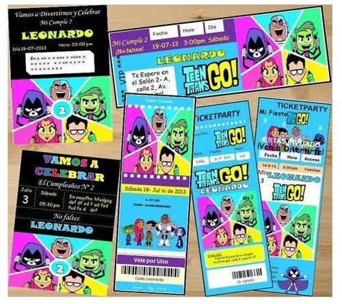 Kit Imprimible Jovenes Titanes Candy Bar 2x1 En Venta En La