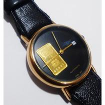 Fino Reloj P Caballero Mov Eta Aut Oro Credito Suizo Oro 24k