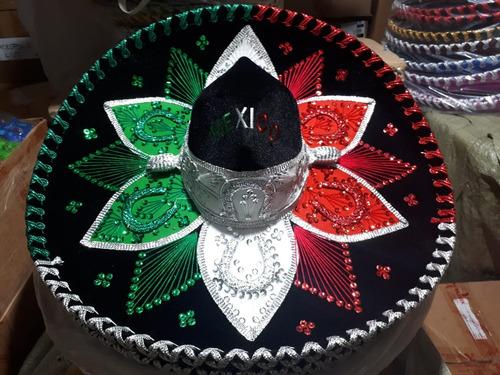 6 Sombrero Charro Tricolor Fiestas Patrias Mexico Septiembre d507e696ad3