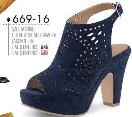 a1e5a8d0 Calzado P/dama Cklass 669-16 Azul Gamuza 10cm Inv-2018 en venta en ...