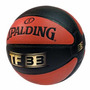 Spalding 10 Panel Tf33 Composite Ball Silver Tamaño 7