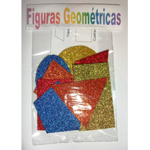 Figuras Geométricas De Foamy Diamantado Con Adhesivo
