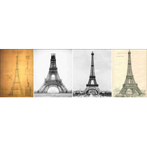 Lienzo Tela Evolución Torre Eiffel París 1889 50 X 150 Cm