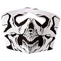 Mascara Hot Leathers Skull Neoprene Face Mask(blanco/negro)