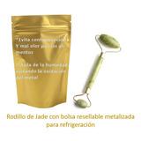 Rodillo De Jade Masajeador Facial + Bolsa Para Refrigeracion