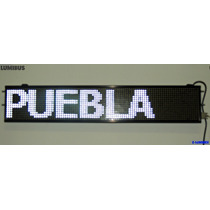 Anuncio Programable Led Autobus/ruta/camión Display Blanco