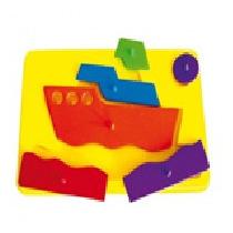 Resaque De Plastico Barco Material Didactico