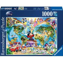 Ravensburger Rompecabezas Mapa De Disney 1000 Pzs.