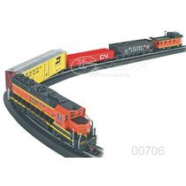 Tren Electrico Ho Bachmann Rail Chief Luz C/130 Accesorios !