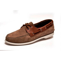 Zapato De Piel Top Sailer Modelo 102 Honey