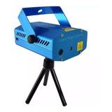 Mini Proyector Laser Bicolor Multipunto Audio Ritmico Tripie