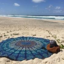 India Mandala Redonda Roundie Beach Tire Tapiz Hippy Boho Gi