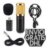 Kit Microfono Condensador Bm800 Usb, Podcast Canto Streaming